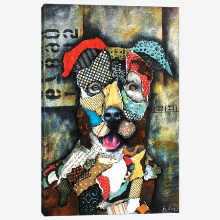 Urban Pit Bull Canvas Print #LNT37} by Patricia Lintner Canvas Print