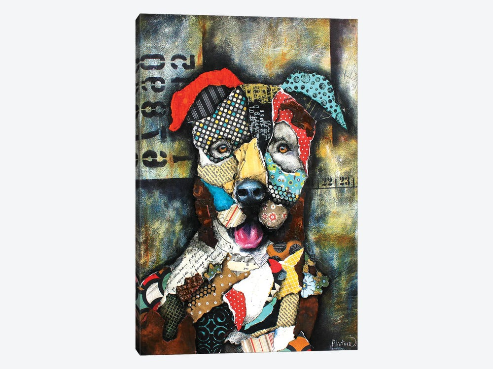 Urban Pit Bull by Patricia Lintner 1-piece Art Print