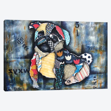 Urban Pug Canvas Print #LNT38} by Patricia Lintner Canvas Artwork