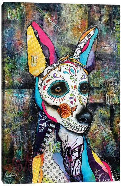 Xolo Day Of The Dead Canvas Art Print