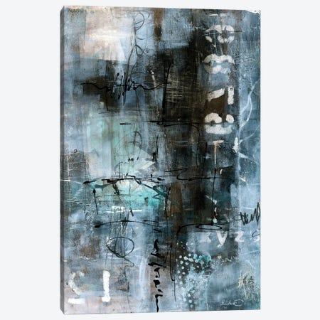 Blue Graffiti Canvas Print #LNT55} by Patricia Lintner Art Print