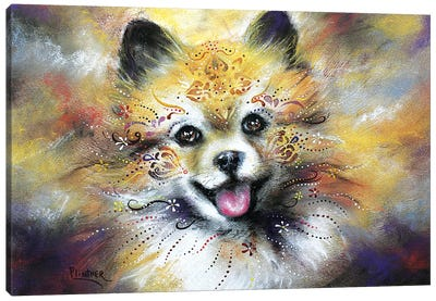 Boho Pomeranian Canvas Art Print