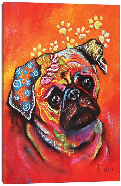 Boho Pug Canvas Art Print