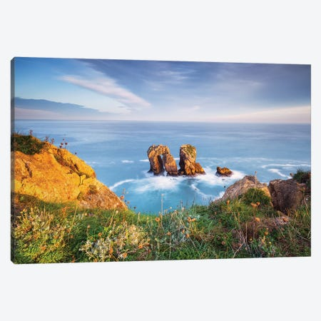 Cantabrian Sea Canvas Print #LNZ100} by Sergio Lanza Canvas Art Print