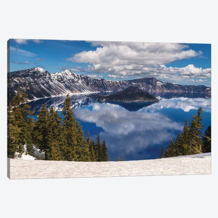 Crater Lake, Oregon 3-Piece Canvas #LNZ110} by Sergio Lanza Canvas Art