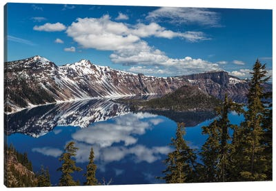 Deep Blue Lake Canvas Art Print