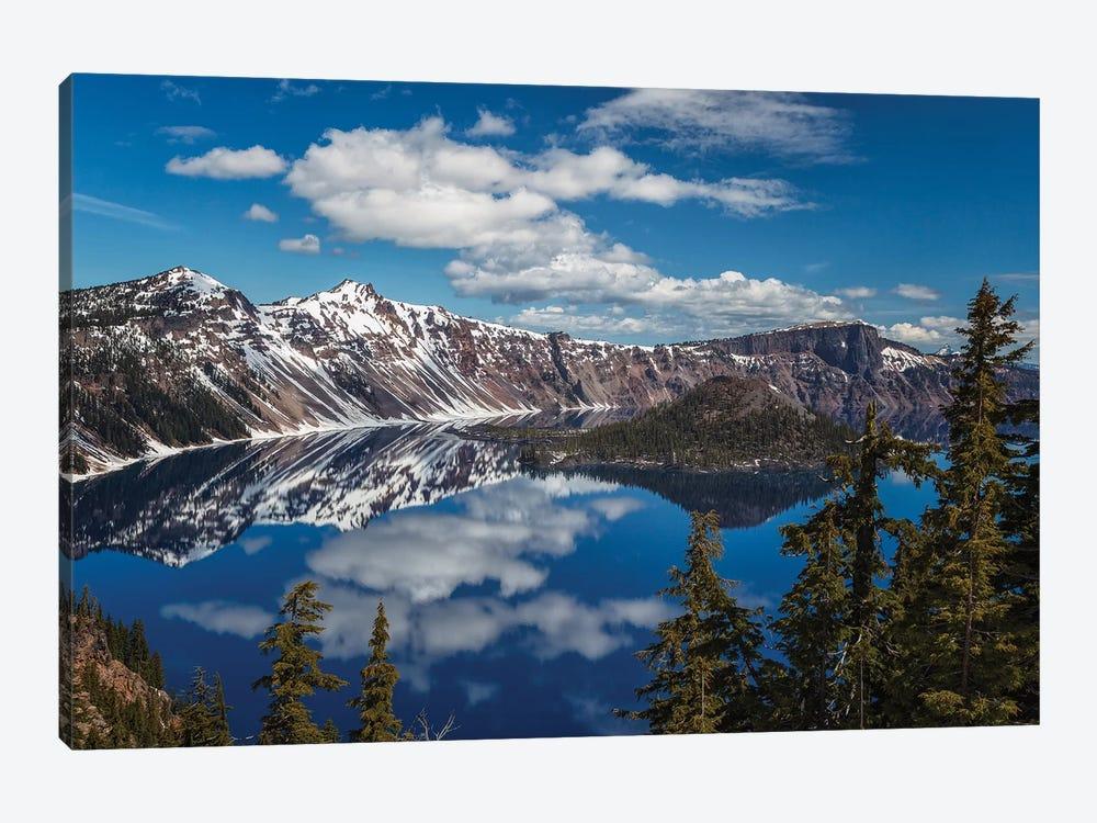 Deep Blue Lake by Sergio Lanza 1-piece Canvas Art Print