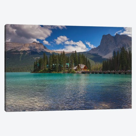 Emerald Lake 3-Piece Canvas #LNZ117} by Sergio Lanza Canvas Print