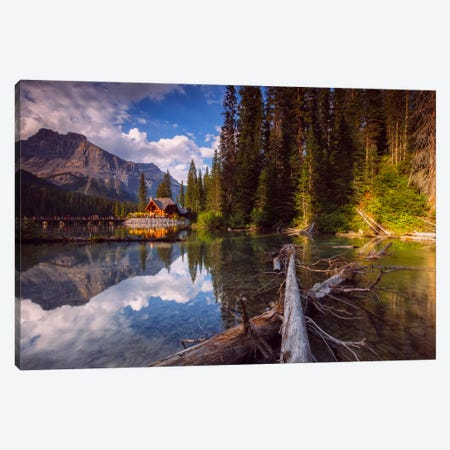 Emerald Lake Canvas Print #LNZ11} by Sergio Lanza Canvas Wall Art