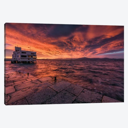 Fire In The Sky 3-Piece Canvas #LNZ122} by Sergio Lanza Canvas Art Print