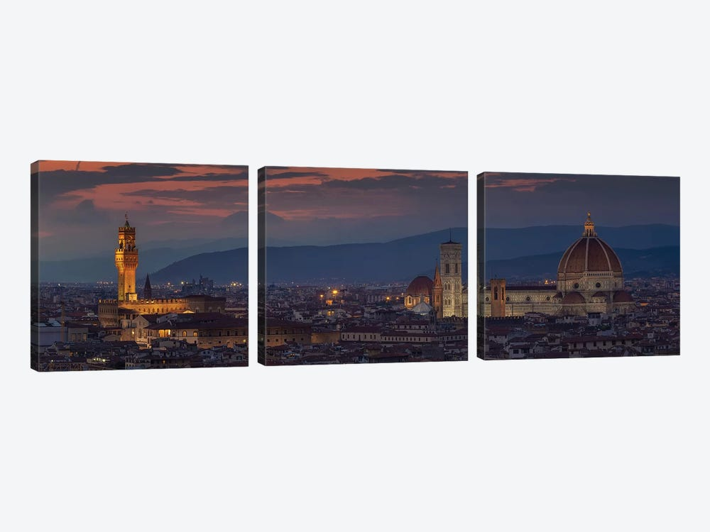 Florence by Sergio Lanza 3-piece Canvas Print