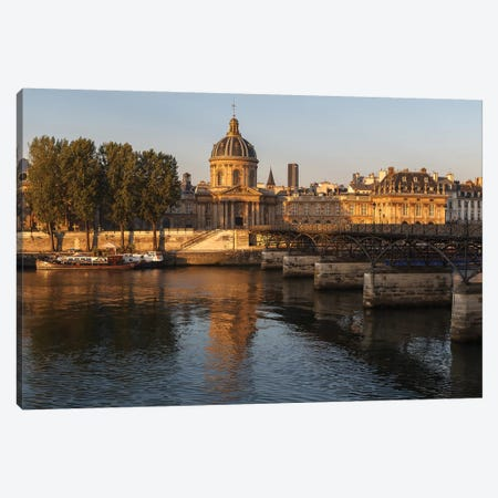 Golden Paris 3-Piece Canvas #LNZ128} by Sergio Lanza Canvas Art Print