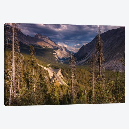 Icefields Parkway, Canadian Rockies 3-Piece Canvas #LNZ137} by Sergio Lanza Art Print