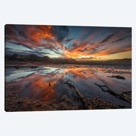 Fire In The Sky Canvas Print #LNZ13} by Sergio Lanza Canvas Artwork