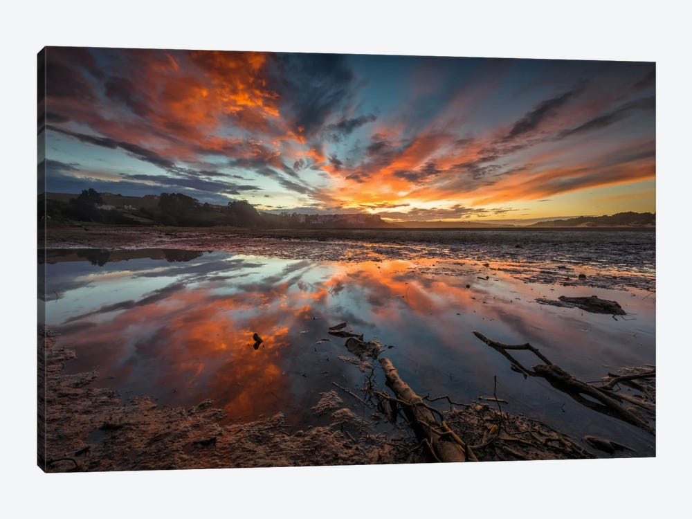 Fire In The Sky by Sergio Lanza 1-piece Canvas Artwork