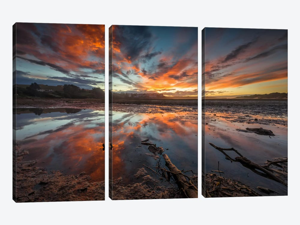 Fire In The Sky by Sergio Lanza 3-piece Canvas Art
