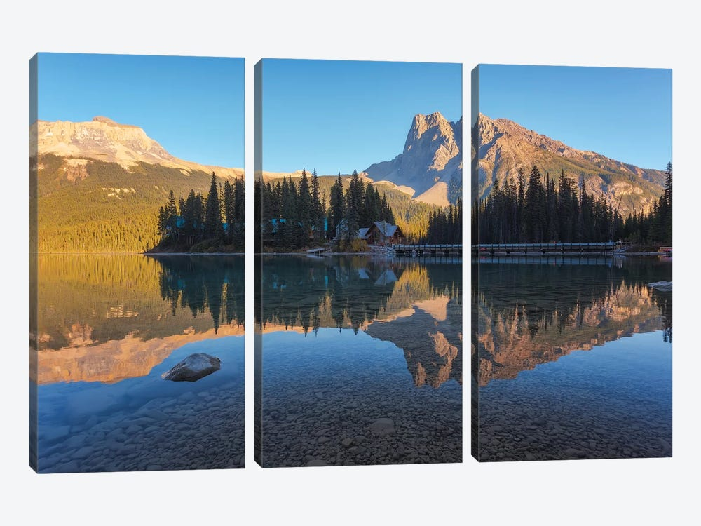 Lakeshore Reflections by Sergio Lanza 3-piece Canvas Print