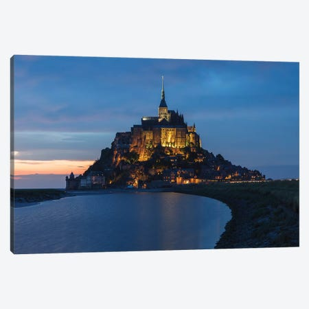 Le Mont-Saint-Michel Canvas Print #LNZ147} by Sergio Lanza Canvas Artwork