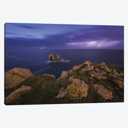 Lightning Bolt Canvas Print #LNZ150} by Sergio Lanza Canvas Wall Art