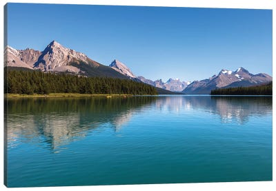 Maligne Bright, Jasper, Canada Canvas Art Print