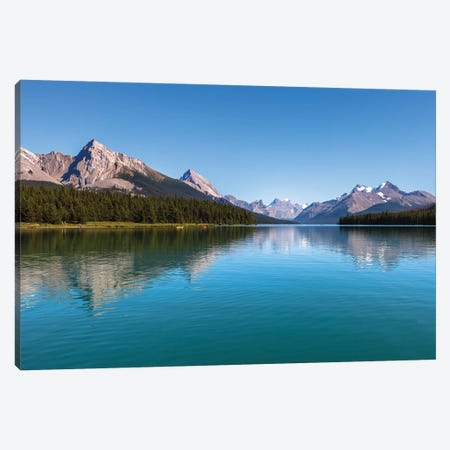 Maligne Bright, Jasper, Canada Canvas Print #LNZ156} by Sergio Lanza Canvas Art Print