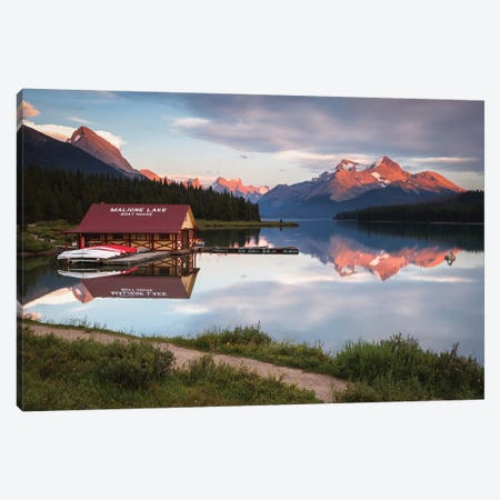 Maligne Lake, Jasper, Canada Canvas Print #LNZ158} by Sergio Lanza Canvas Art