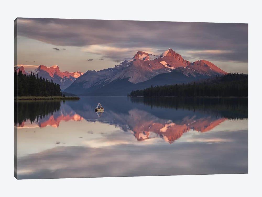 Maligne Nights, Jasper, Canada by Sergio Lanza 1-piece Canvas Print
