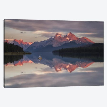 Maligne Nights, Jasper, Canada Canvas Print #LNZ159} by Sergio Lanza Canvas Wall Art