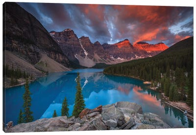 Moraine Glory Canvas Art Print