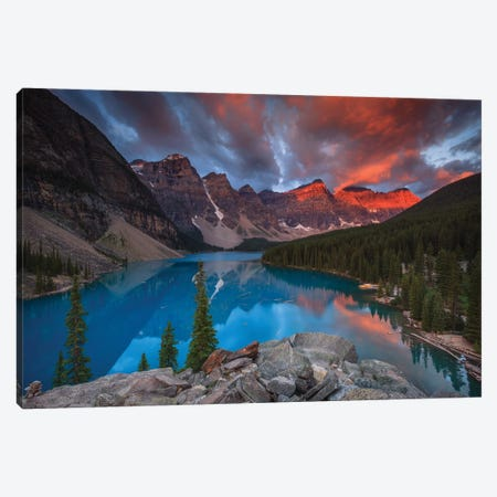 Moraine Glory Canvas Print #LNZ166} by Sergio Lanza Canvas Wall Art