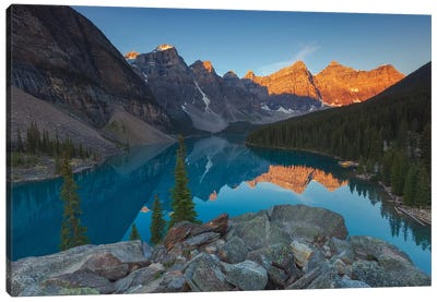 Moraine Sunrise Canvas Art Print