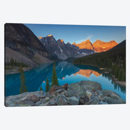 Moraine Sunrise Canvas Print #LNZ167} by Sergio Lanza Canvas Art