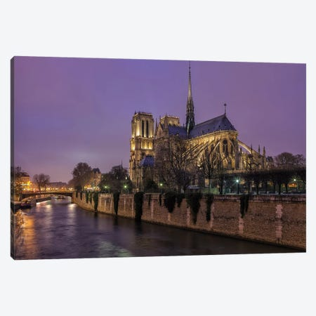 Notre Dame Canvas Print #LNZ171} by Sergio Lanza Canvas Art