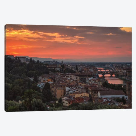 Old Florence Canvas Print #LNZ173} by Sergio Lanza Canvas Wall Art