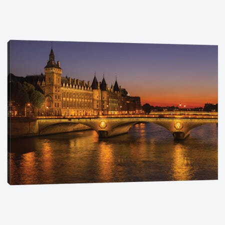 Paris Lights Canvas Print #LNZ178} by Sergio Lanza Canvas Artwork