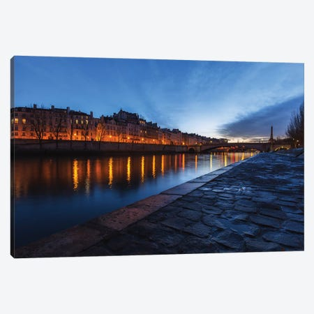 Paris Nights Canvas Print #LNZ179} by Sergio Lanza Canvas Art