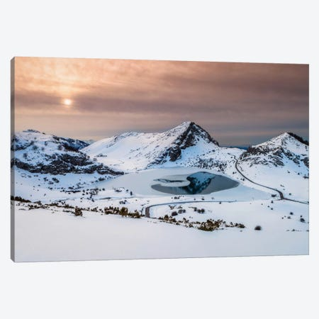 Frozen Lake Canvas Print #LNZ17} by Sergio Lanza Canvas Print