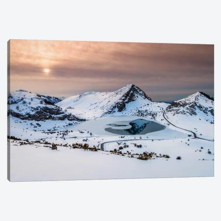 Frozen Lake Canvas Print #LNZ17} by Sergio Lanza Canvas Print