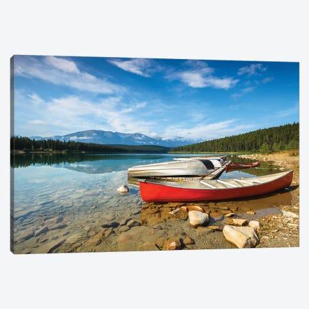 Patricia's Boat, Jasper National Park Canvas Print #LNZ182} by Sergio Lanza Art Print