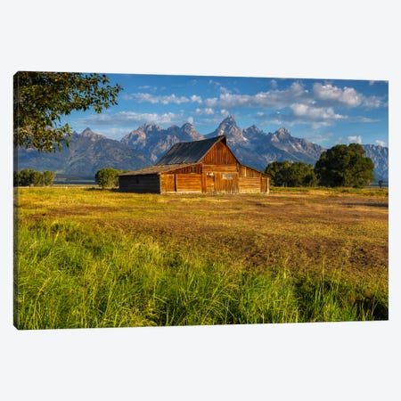 Grand Teton Barn Canvas Print #LNZ18} by Sergio Lanza Canvas Wall Art