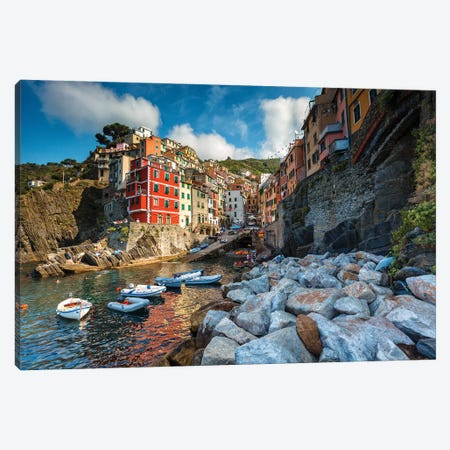 Riomaggiore Colors Canvas Print #LNZ190} by Sergio Lanza Canvas Artwork