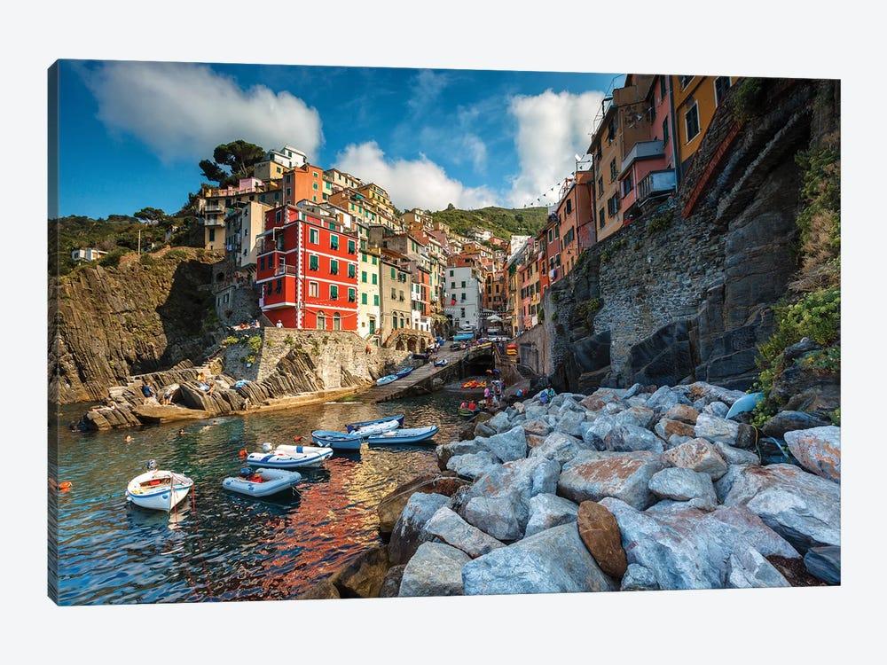 Riomaggiore Colors by Sergio Lanza 1-piece Canvas Wall Art