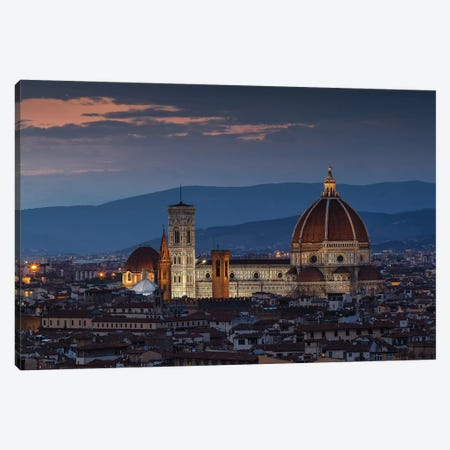 Santa Maria del Fiore, Florence 3-Piece Canvas #LNZ194} by Sergio Lanza Canvas Print