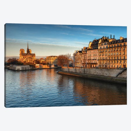 Seine River Canvas Print #LNZ198} by Sergio Lanza Canvas Artwork