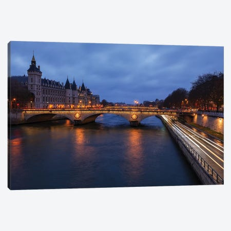 Seine Views 3-Piece Canvas #LNZ199} by Sergio Lanza Canvas Artwork