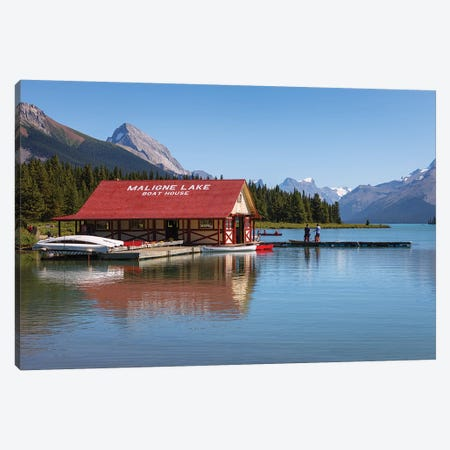 That House On The Lake Canvas Print #LNZ205} by Sergio Lanza Canvas Art Print