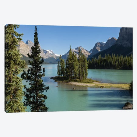 The Island On The Lake Canvas Print #LNZ214} by Sergio Lanza Canvas Artwork
