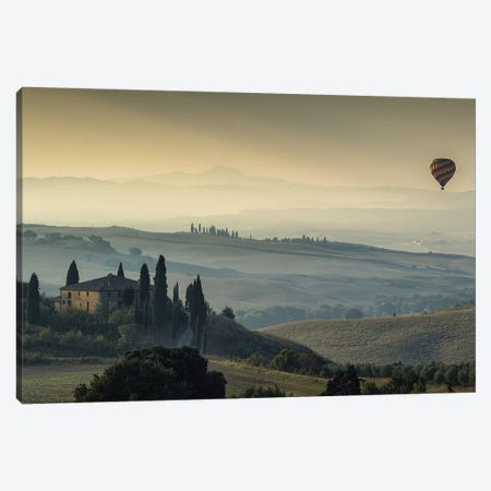 Tuscan Mornings Canvas Print #LNZ226} by Sergio Lanza Art Print