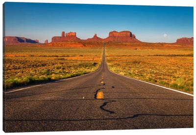 Long Road Canvas Art Print