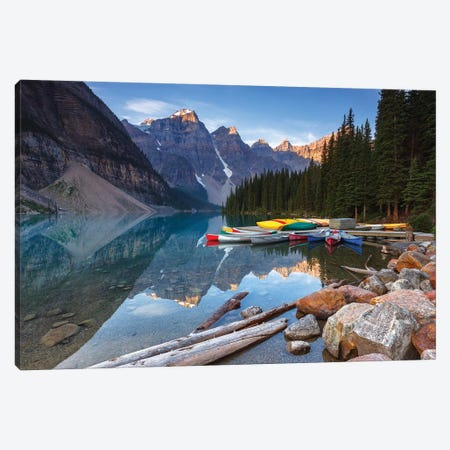 Valley Of The Ten Peaks, Banff National Park, Canada 3-Piece Canvas #LNZ233} by Sergio Lanza Art Print